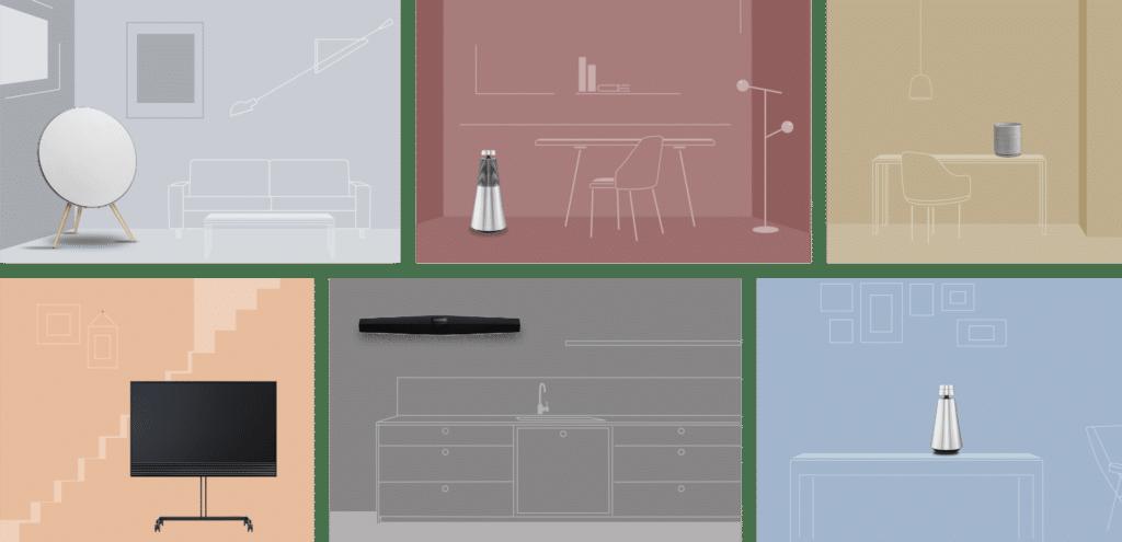 Bang & Olufsen Multiroom - forskelligt musik