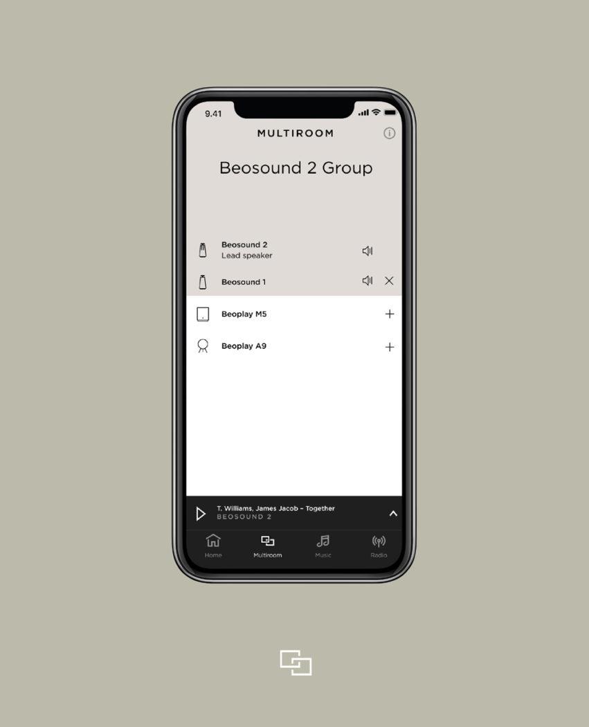 Multiroom - Fjernbetjening via Smartphone